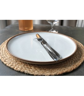 Set de table rond Lilo naturel
